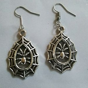 Spider Web Earrings Halloween Jewlery